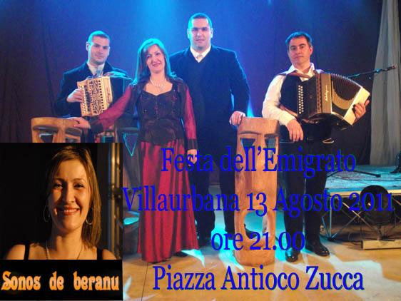 Festa dell'Emigrato 2011: Giusi Deiana e i Sonos de Beranu