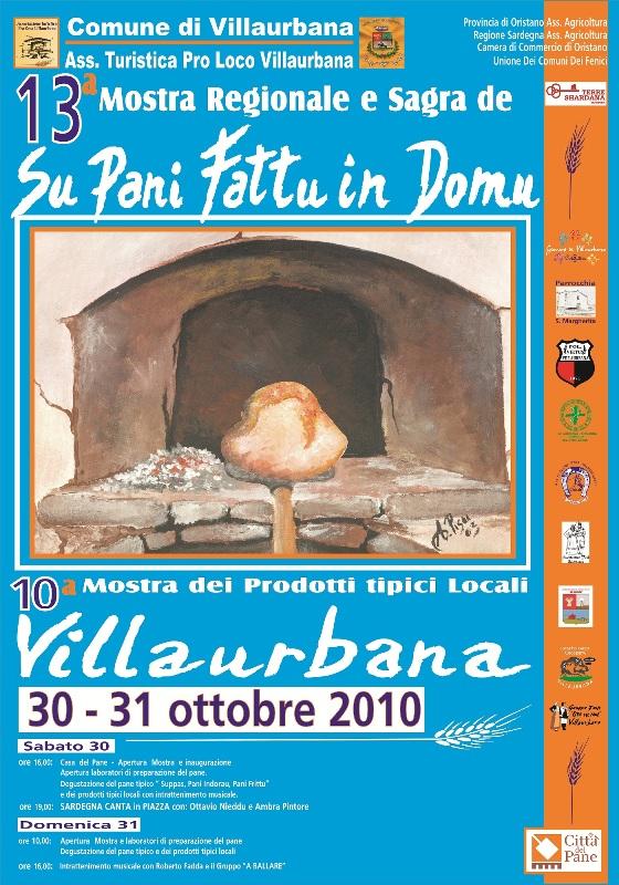 13a Mostra de Su Pani Fattu in Domu: Villaurbana 30 e 31 Ottobre 2010