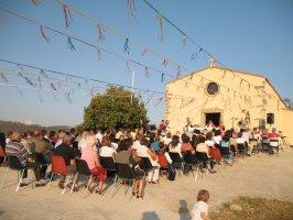 1 e 2 Settembre 2008: Villaurbana  Processione e Messa per  San Crispo nella sua chiesetta