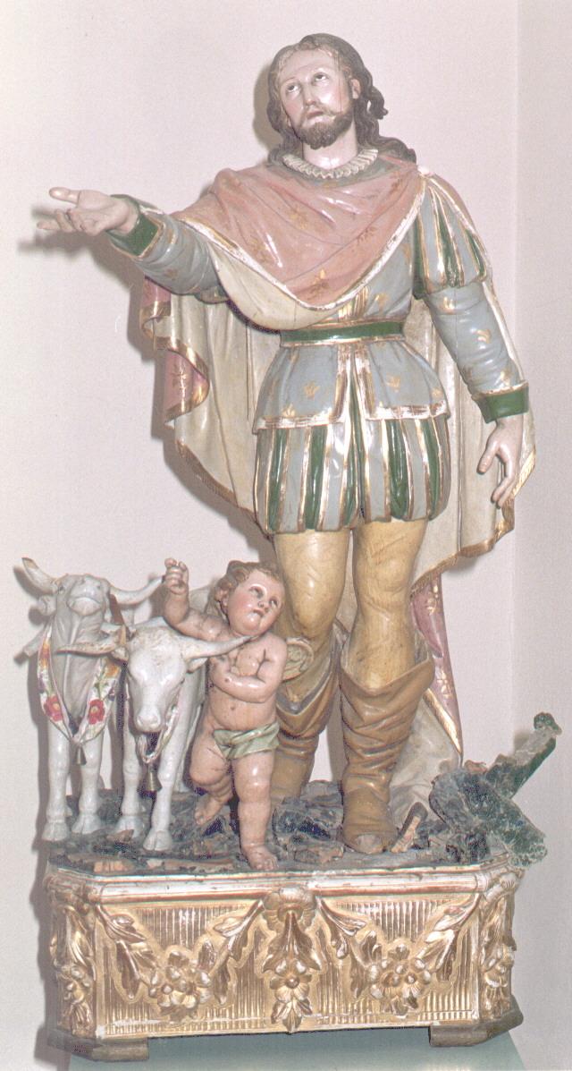 Statua di S. Isidoro custodita dalla Parrocchia Santa Margherita di Villaurbana