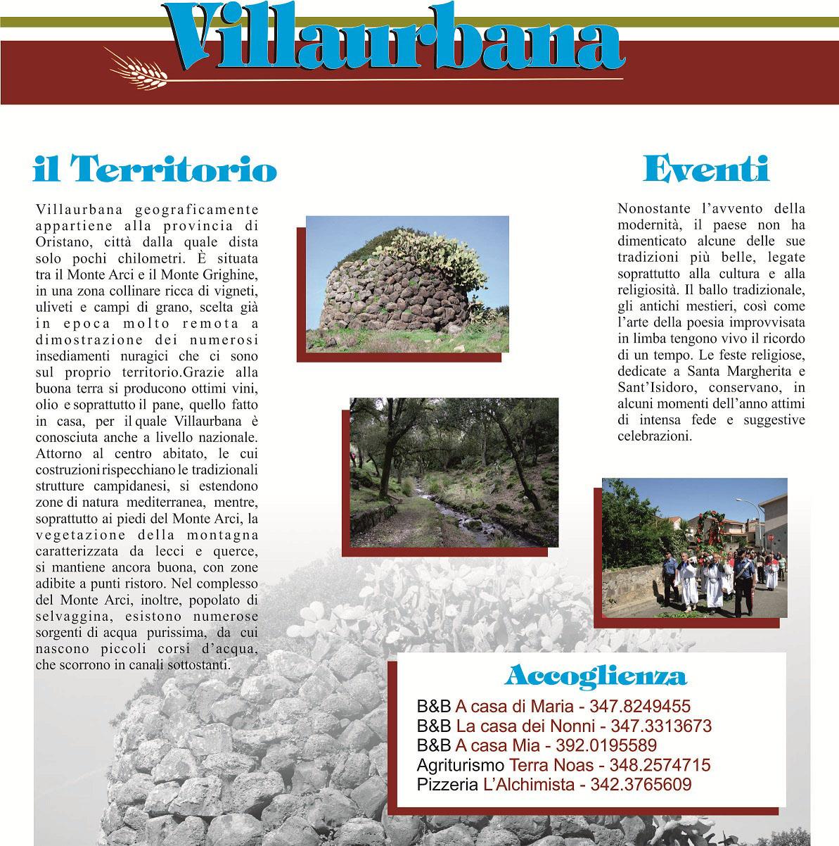 Il Territorio e gli eventi di Villaurbana