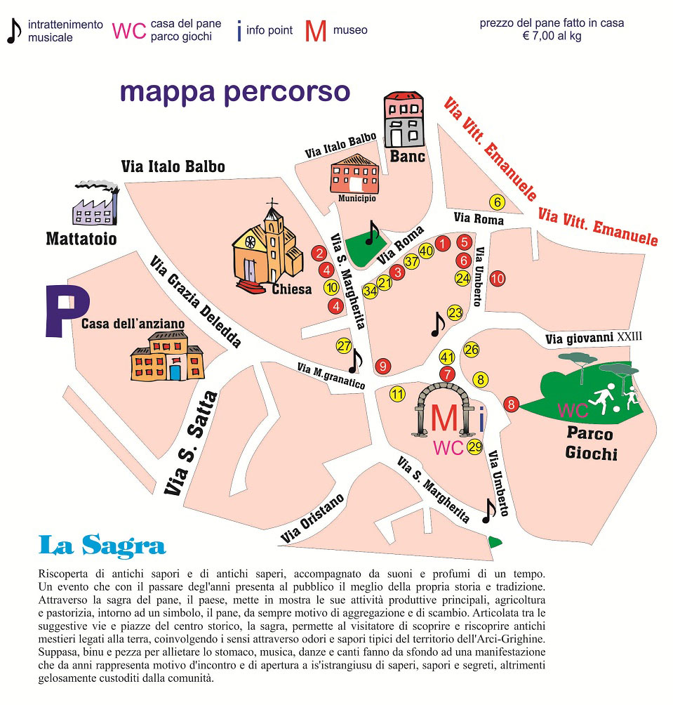 15a Sagra de Su Pani Fattu in Domu: la mappa