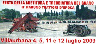 Festa della mietitura e trebbiatura del grano, secondo raduno trattori d'epoca