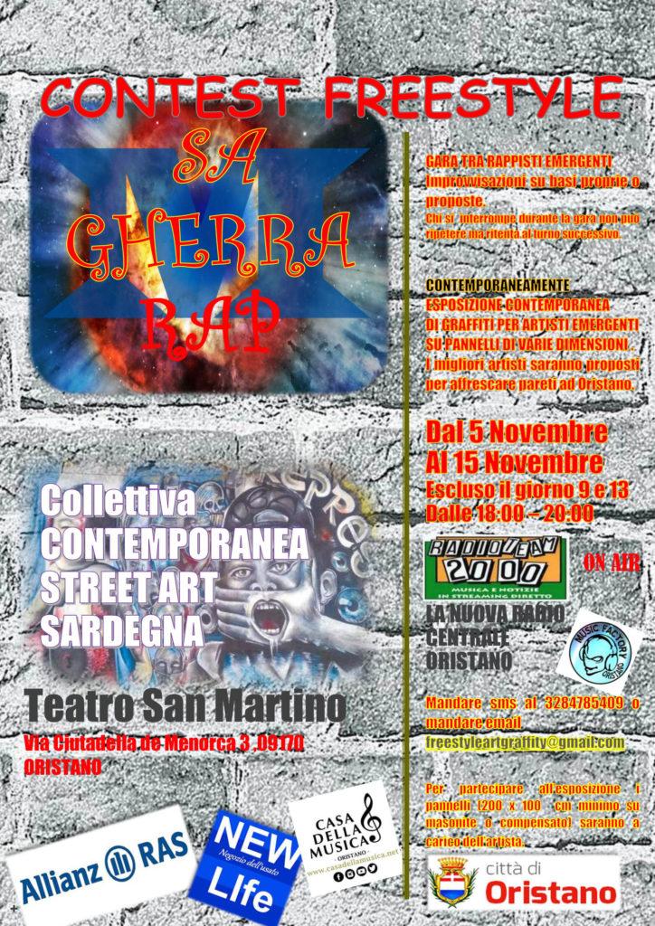 Dal 5 Novembre al 15 Novembre: Gara tra Rappisti emergenti ed esposizione contemporanea di graffitti di artisti emergenti.